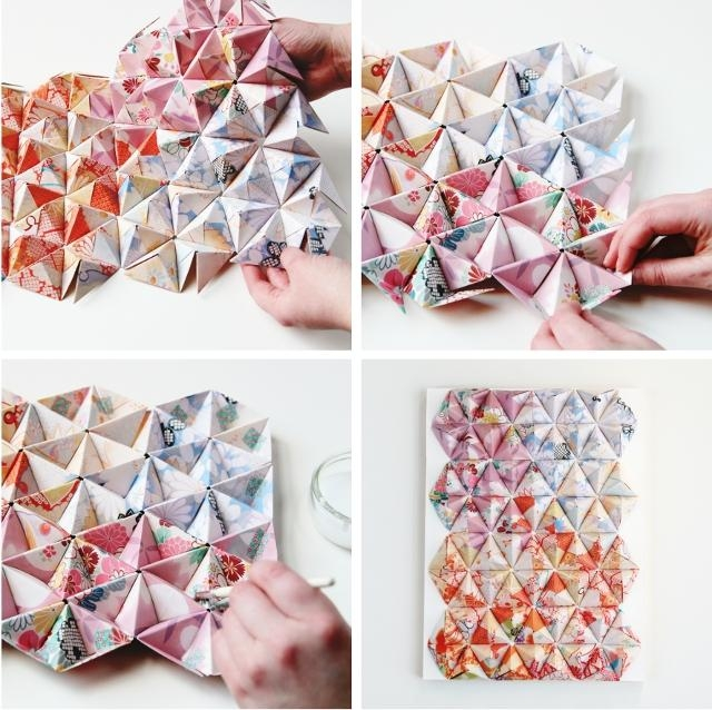 Things I've Made From Things I've Pinned: Diy 3D Origami Wall Art Throughout Diy Origami Wall Art (View 2 of 20)