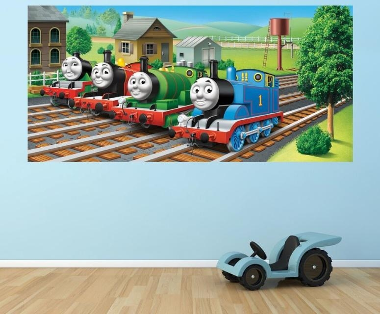 Thomas And Friends Wall Murals Inside Thomas The Tank Wall Art (Image 10 of 20)