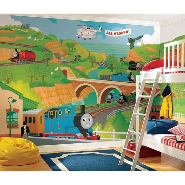 Thomas The Tank Engine Bedroom Decor (Photos And Video Inside Thomas The Tank Wall Art (Image 11 of 20)