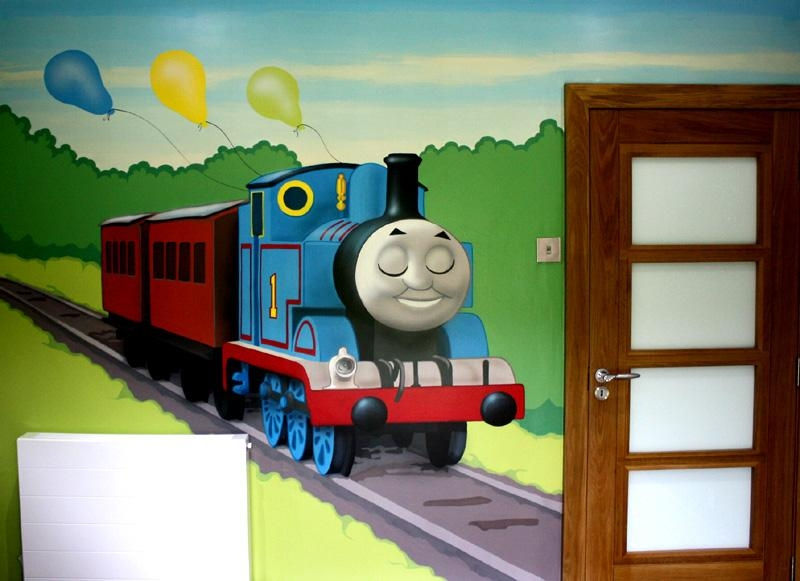 Thomas The Tank Engine Room Decor Australia — Office And Bedroom With Regard To Thomas The Tank Wall Art (Image 13 of 20)