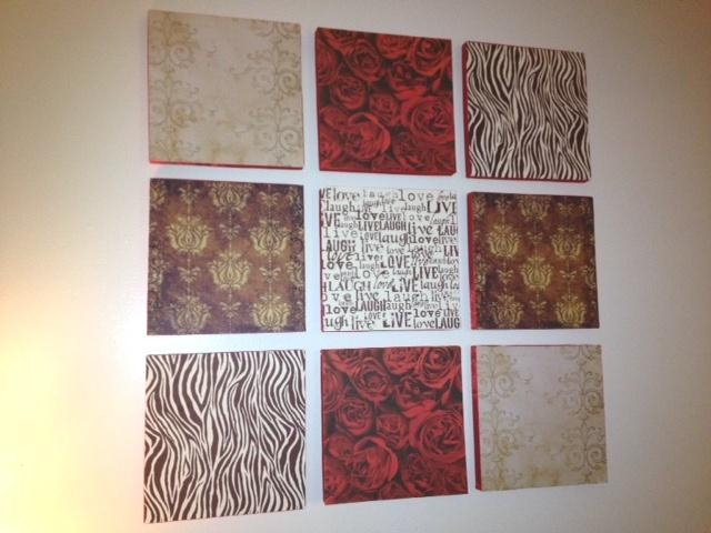 Thursday Night Threads: Diy Wall Art Panels – Scrapbook Paper And In Styrofoam Wall Art (View 11 of 20)