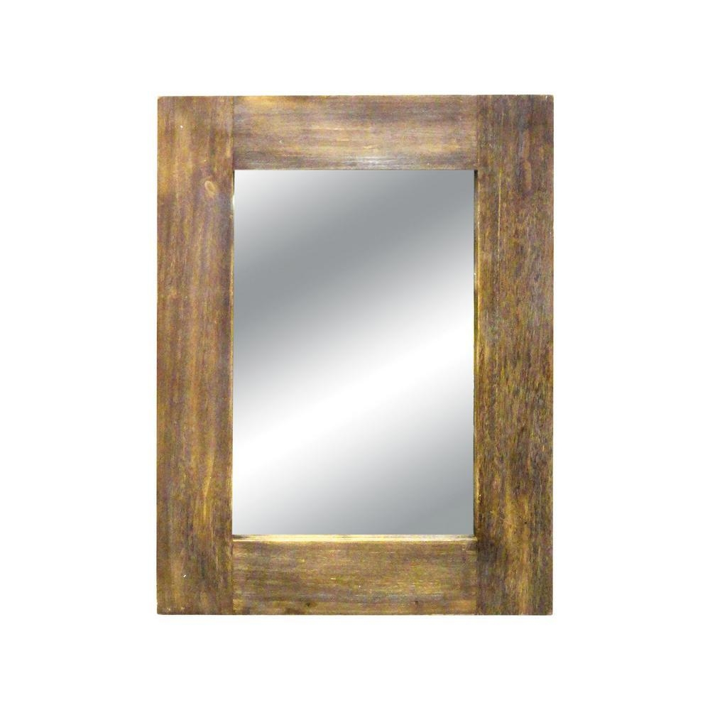 Titan Lighting Canal 42 In. X 32 In. Wood Framed Mirror Tn 892830 With Regard To Frames Mirrors (Photo 17 of 20)
