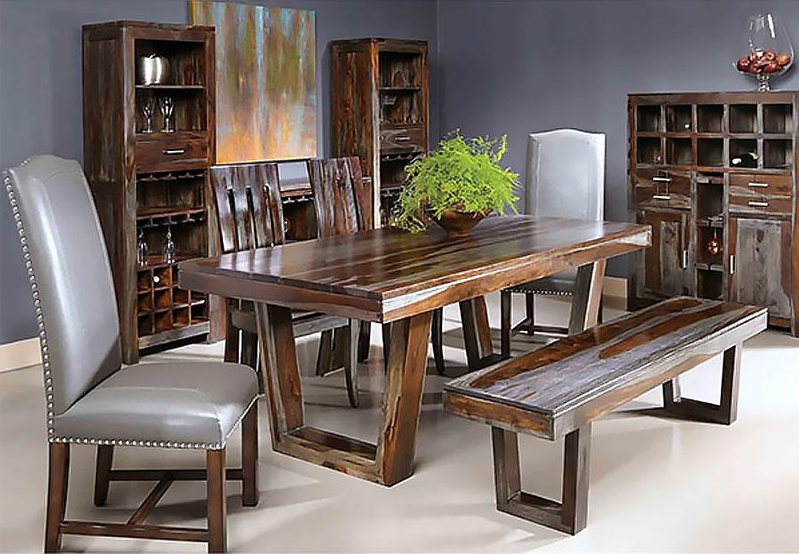 To Coast Grayson Sheesham Dining Table Intended For Most Current Sheesham Dining Chairs (View 4 of 20)