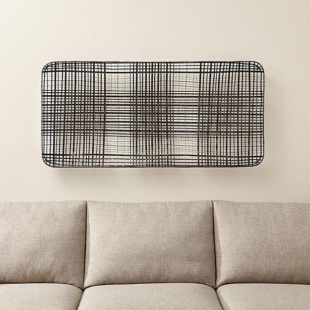 Tobacco Basket Metal Wall Art | Crate And Barrel With Regard To Rectangular Metal Wall Art (Image 15 of 20)