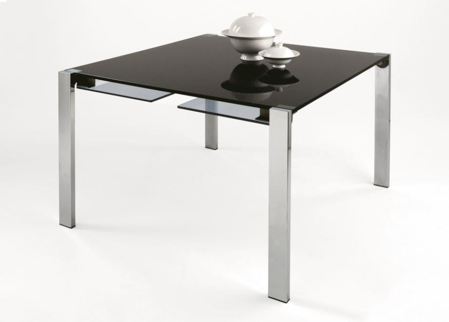 Tonelli Livingstone Square Glass Dining Table | Square Glass Tables With Regard To Recent Square Black Glass Dining Tables (Image 19 of 20)