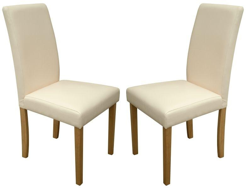 Torino Cream Faux Leather Dining Chairs 1/2 Price Sale Now On Your Intended For Best And Newest Cream Faux Leather Dining Chairs (View 4 of 20)