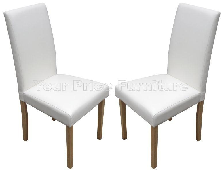 Torino Ivory White Faux Leather Dining Chairs 1/2 Price Sale Now Pertaining To Best And Newest Ivory Leather Dining Chairs (View 17 of 20)