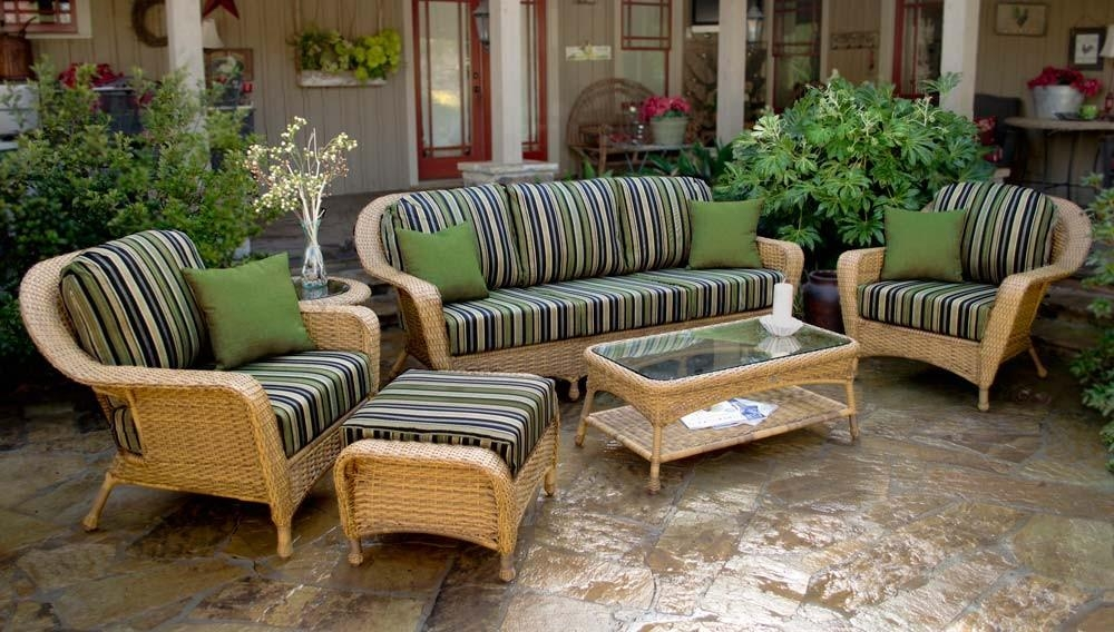 Tortuga Outdoor Lexington Wicker 6 Piece Deep Seating Sofa Set Intended For Ken Sofa Sets (Image 20 of 20)