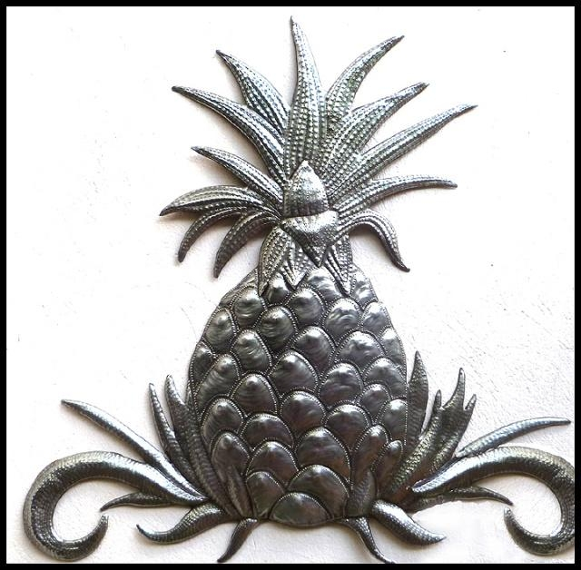 Traditional – Classical Designs In Handcrafted Metal – Haiti Metal Art Within Pineapple Metal Wall Art (Image 18 of 20)