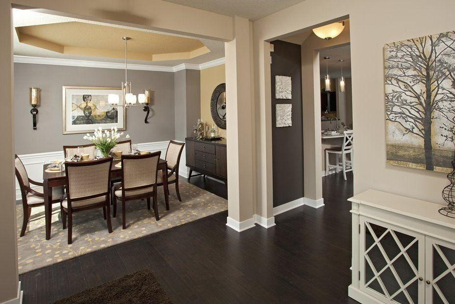 Traditional Dining Room With Hardwood Floors & Wainscoting Inside Canvas Wall Art For Dining Room (Image 17 of 20)