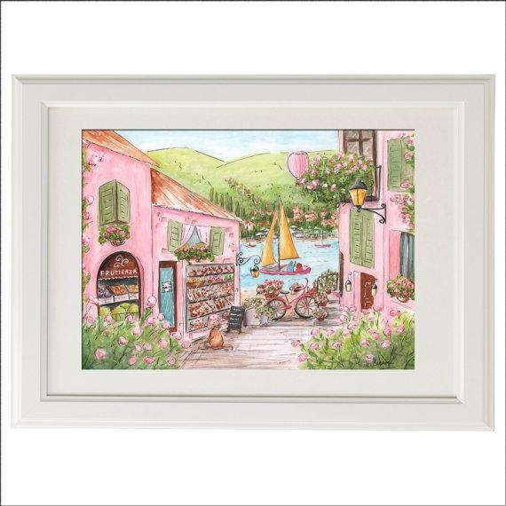 Travel Themed Nursery Wall Art Travel Art Print Lake Como Inside Italian Nursery Wall Art (Image 20 of 20)