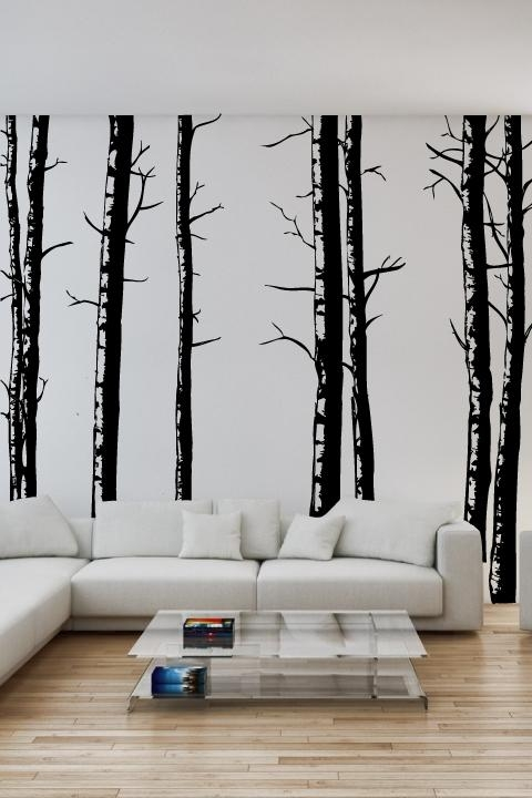Tree Vinyl Wall Decal – Tree Wall Decal To Enhance Room Decoration In Wall Cling Art (Image 15 of 20)