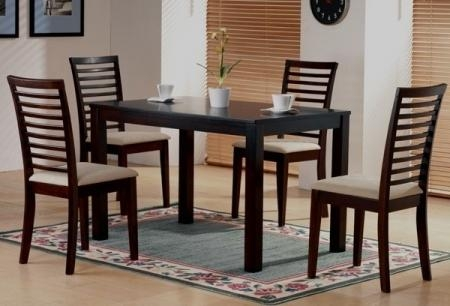 Trend Dining Table Chair With Elegan Wooden Dining Room Chairs At With Latest Dining Tables Chairs (Image 20 of 20)