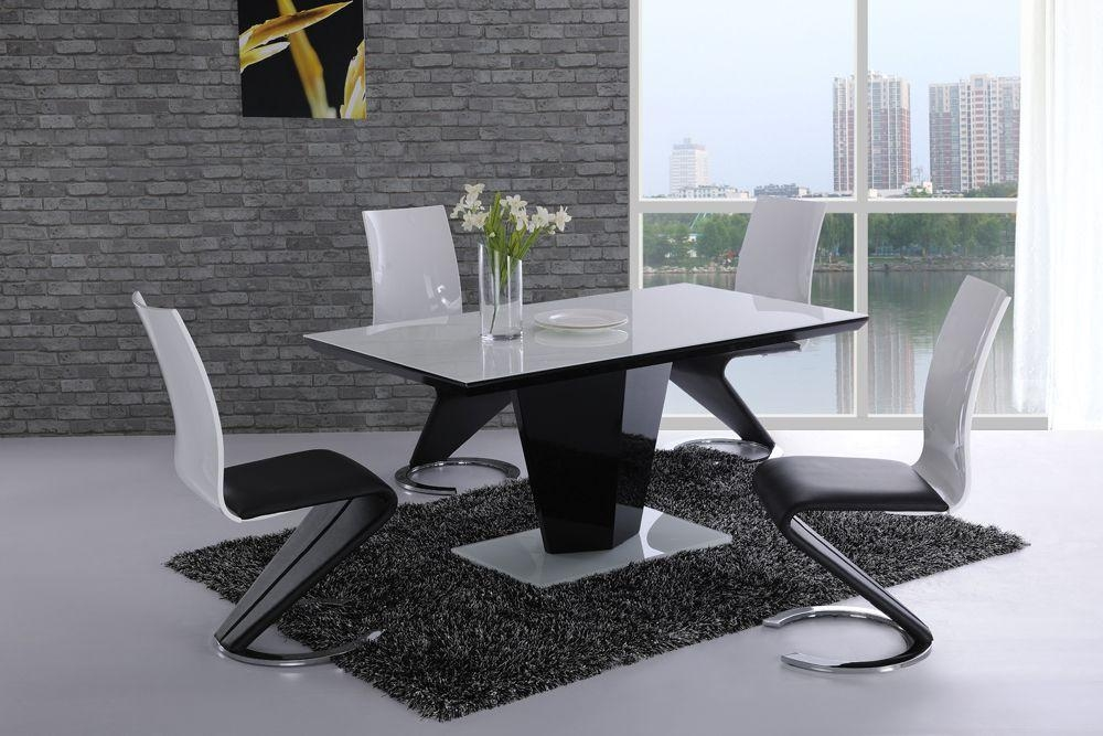 Trendy Design White High Gloss Dining Table | All Dining Room Throughout Best And Newest High Gloss White Dining Chairs (Image 16 of 20)