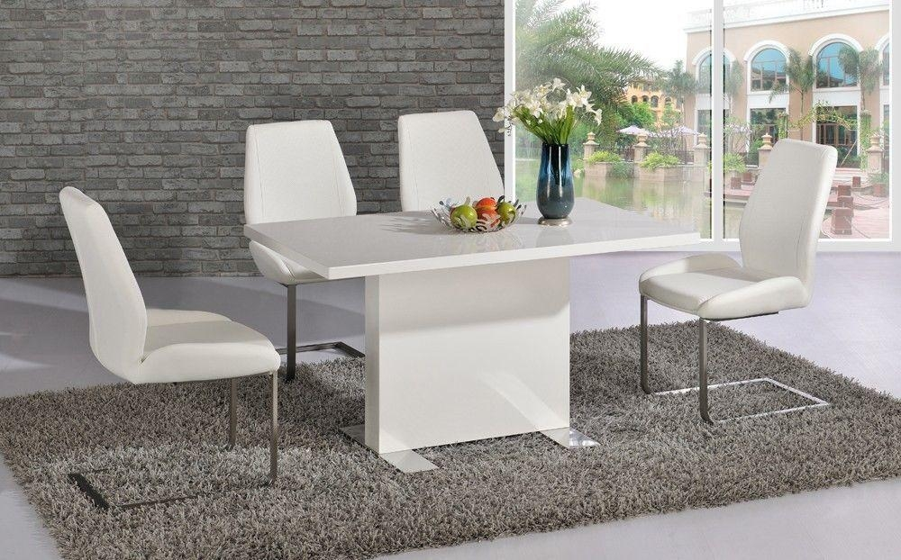 Trendy Design White High Gloss Dining Table | All Dining Room Throughout Current Cream High Gloss Dining Tables (Image 18 of 20)