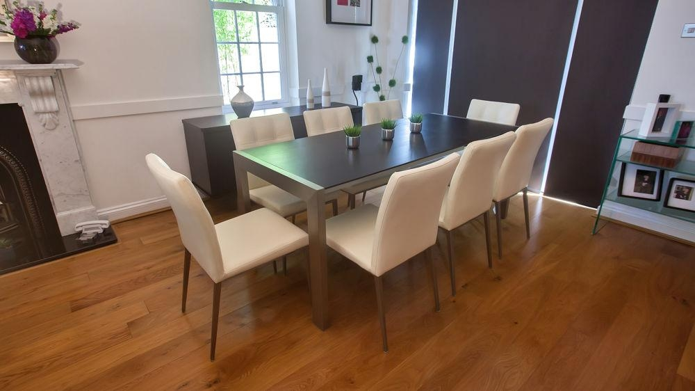 Trendy Wenge Extending Dining Table And Funky Quilted Chairs | Seats 8 For Best And Newest Dark Wood Extending Dining Tables (Image 17 of 20)