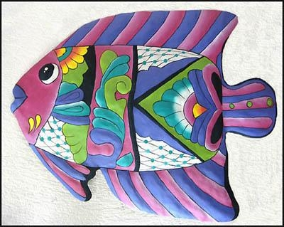 Tropical Fish Metal Art, Metal Wall Art, Tropical Decor, Tropical Regarding Tropical Outdoor Wall Art (View 2 of 20)
