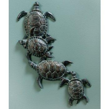 Turtles Wall Plaque Within Outdoor Metal Turtle Wall Art (View 14 of 20)