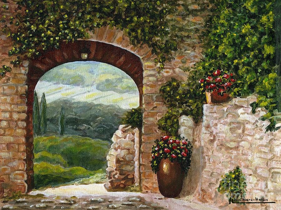 Tuscan Arch Paintingitalian Art Throughout Italian Stone Wall Art (Image 20 of 20)
