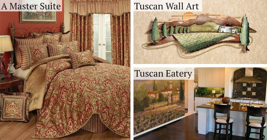 Tuscan Italian Style Home Decorating And Tuscan Decorating Tips Intended For Italian Style Wall Art (Image 13 of 20)
