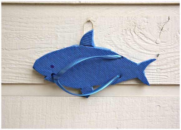 Tutorial: Shark Flip Flop Sculpture Wall Art – Dollar Store Crafts Within Flip Flop Wall Art (Image 17 of 20)