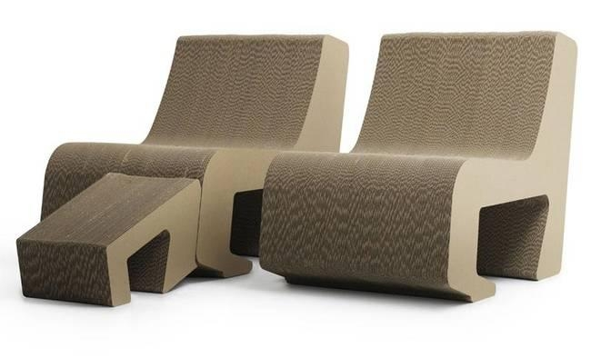 Two Seats Turn Into One Sofa In Spanish Design Firm's Latest Pertaining To Cardboard Sofas (Image 20 of 20)