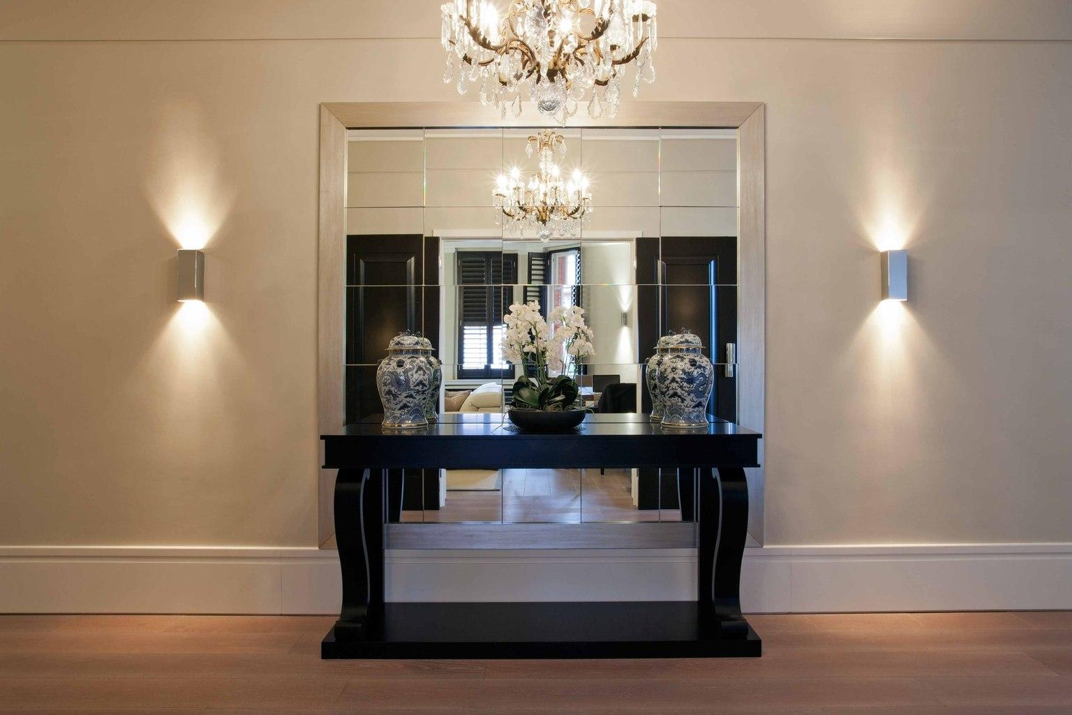 Unique Entry Hall Tables And Mirrors With Gallery Of Finding The Throughout Modern Hall Mirrors (Image 19 of 20)