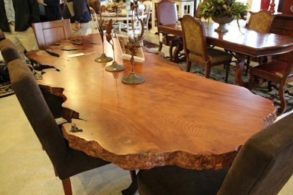 Unique Solid Wood Dining Room Tables With Dining Room Massive For Latest Solid Wood Dining Tables (View 13 of 20)
