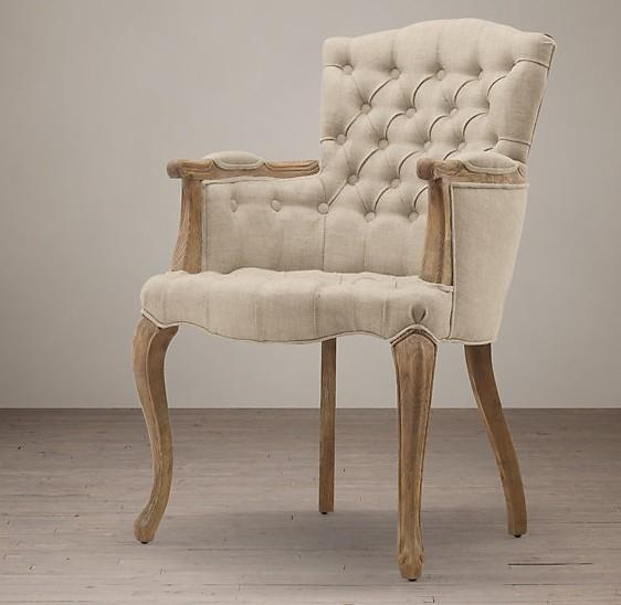 Upholstered Fabric Dining Chair , Tufted High Back Dining Room Chairs Pertaining To Most Current Fabric Covered Dining Chairs (View 13 of 20)