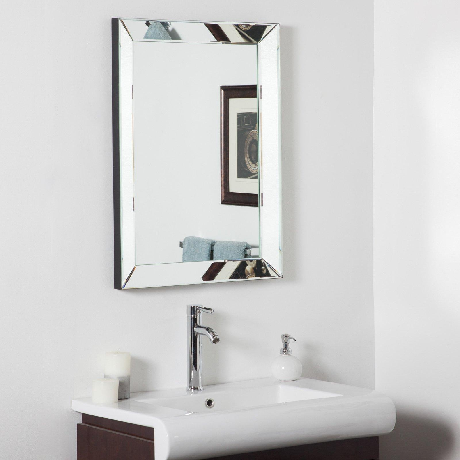 Uttermost Alanna Beveled Mirror Framed Vanity Mirror – 22W X 34H Pertaining To Modern Framed Mirrors (View 11 of 20)