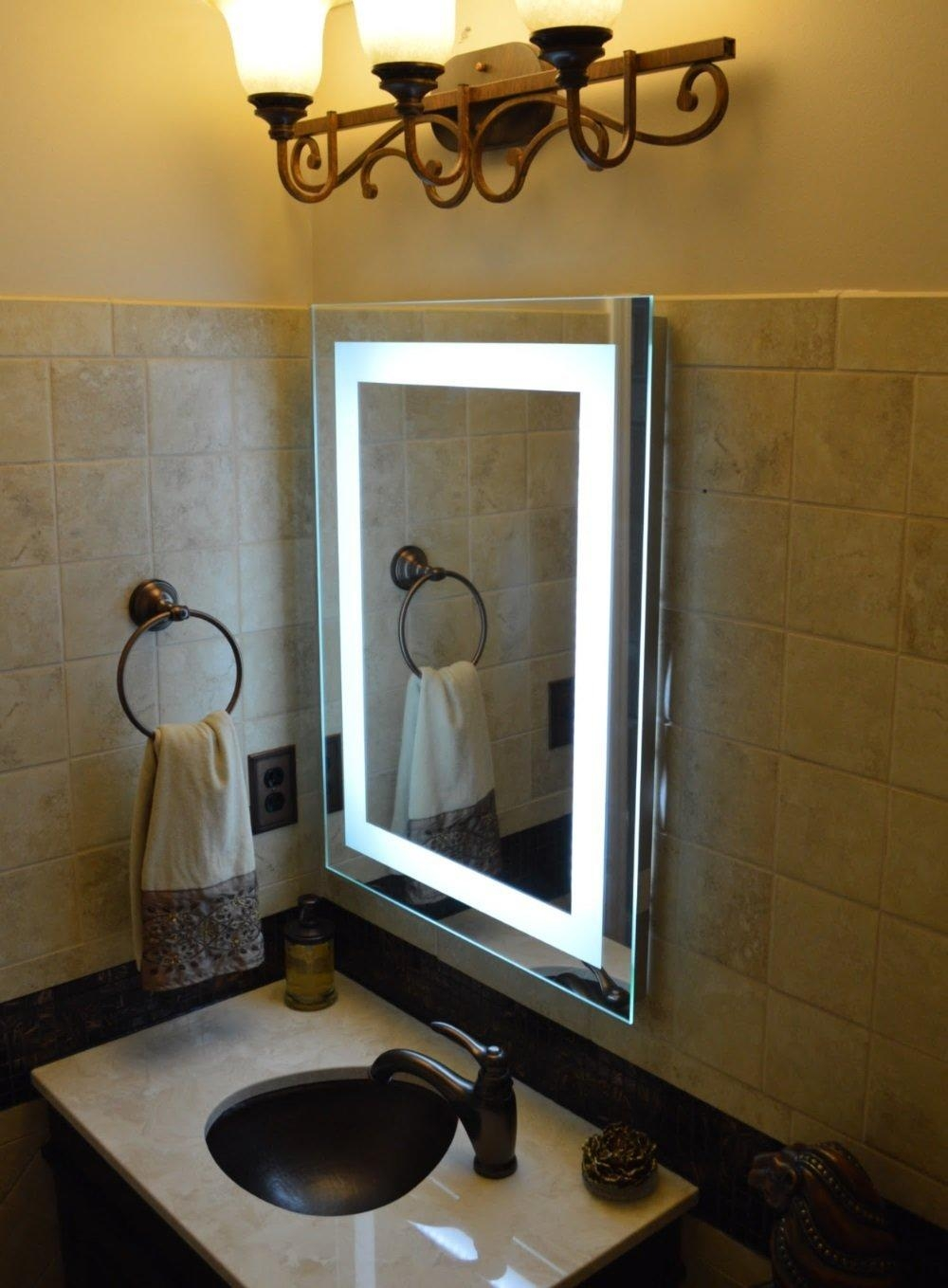 Vanity Lighted Makeup Mirror – Lighted Vanity Mirror Benefits Intended For Lighted Vanity Mirrors For Bathroom (Image 20 of 20)