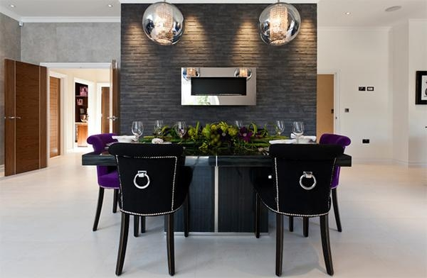 Velvet Dining Chairs In 20 Sophisticated Dining Rooms | Home Within Velvet Dining Chairs (View 4 of 20)