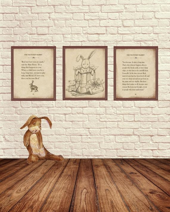 Velveteen Rabbit Wall Art Velveteen Rabbit Art Pints Story Within Velveteen Rabbit Wall Art (Image 14 of 20)