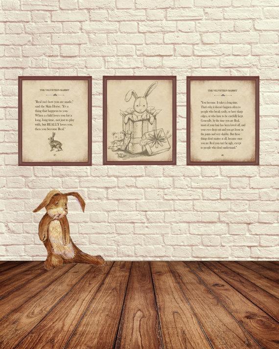 Velveteen Rabbit Wall Art Velveteen Rabbit Art Pints Story Within Velveteen Rabbit Wall Art (View 7 of 20)