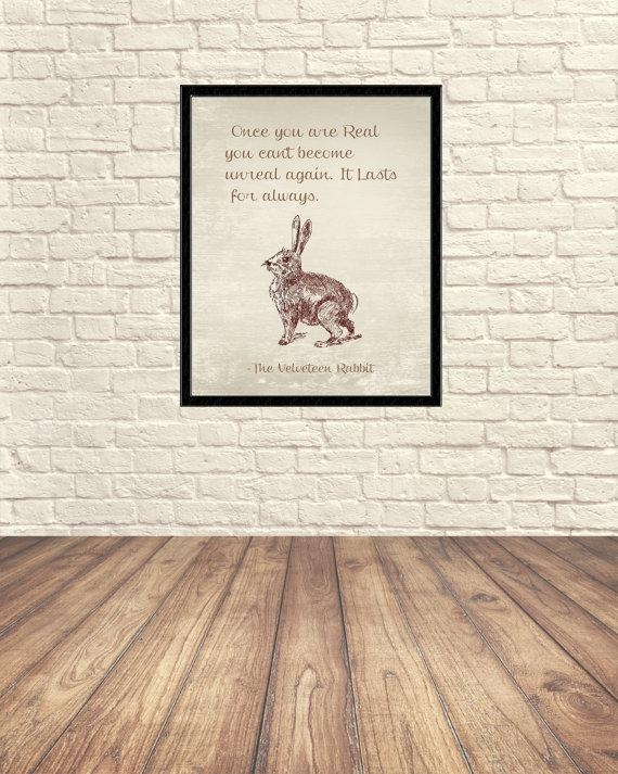 Velveteen Rabbit Wall Art Velveteen Rabbit Art Print Nursery With Regard To Velveteen Rabbit Wall Art (Image 17 of 20)