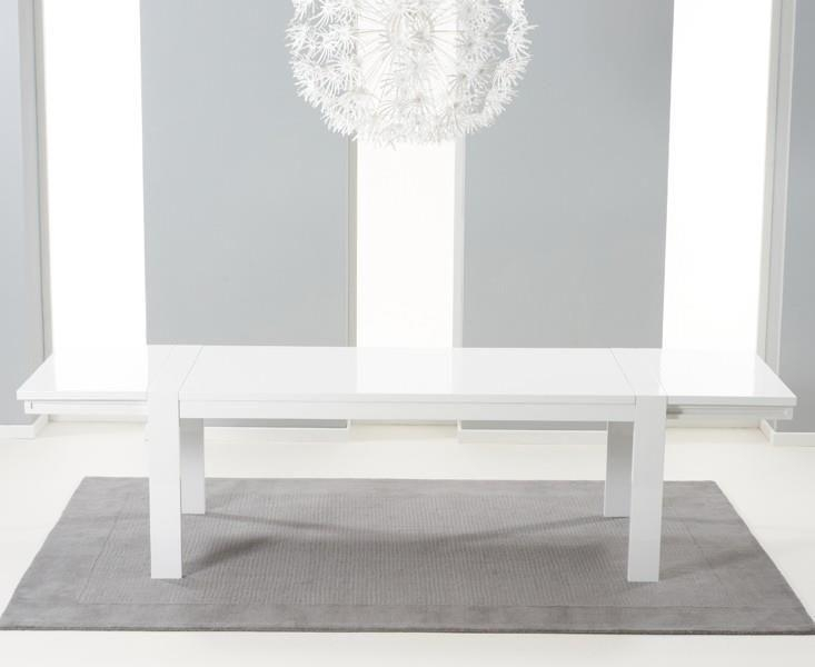 Venice High Gloss White Extending Dining Rectangular Dining Table Throughout Most Current High Gloss White Extending Dining Tables (Photo 12 of 20)