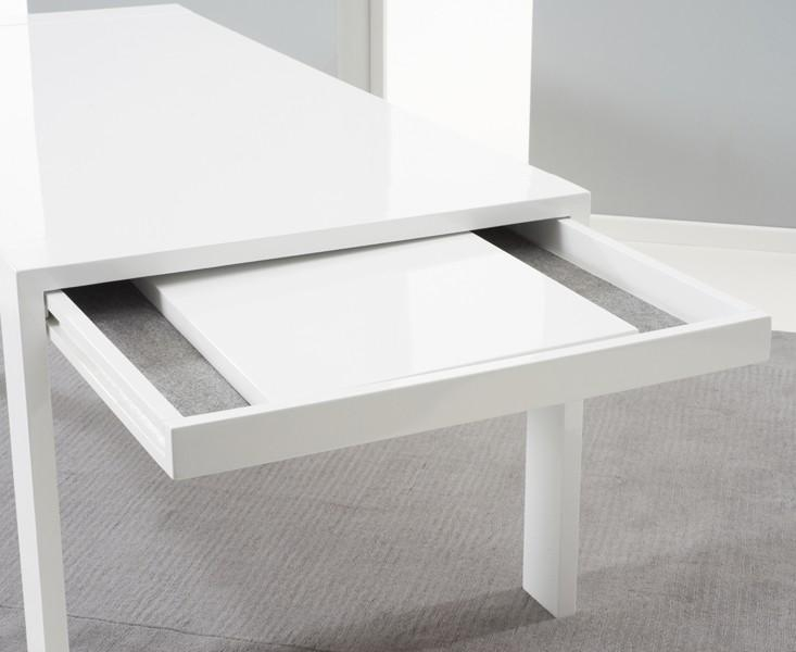 Venice White High Gloss Extending Dining Table (200Cm 300Cm With Regard To Most Recently Released High Gloss White Extending Dining Tables (Image 18 of 20)