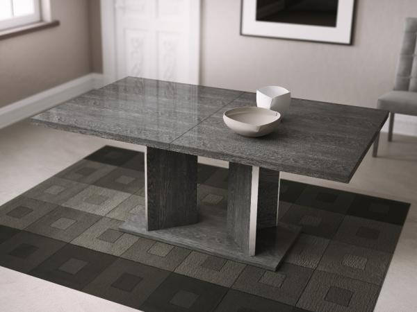 Venicia Extending Dining Table In Grey Birch Look Veneer With With Grey Gloss Dining Tables (Photo 15 of 20)