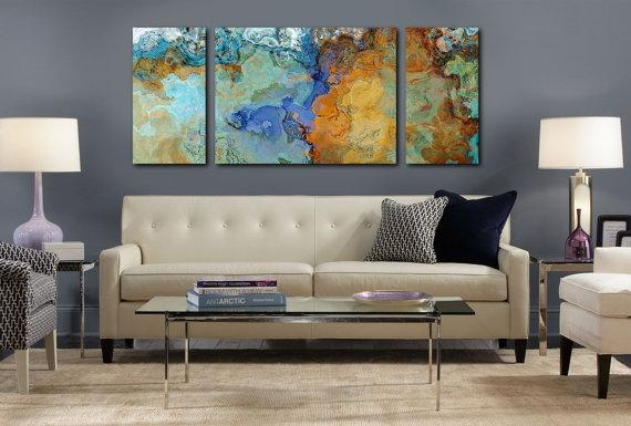 Very Large Abstract Wall Art Canvas Print 30X72 To 40X90 With Very Large Wall Art (Image 13 of 20)