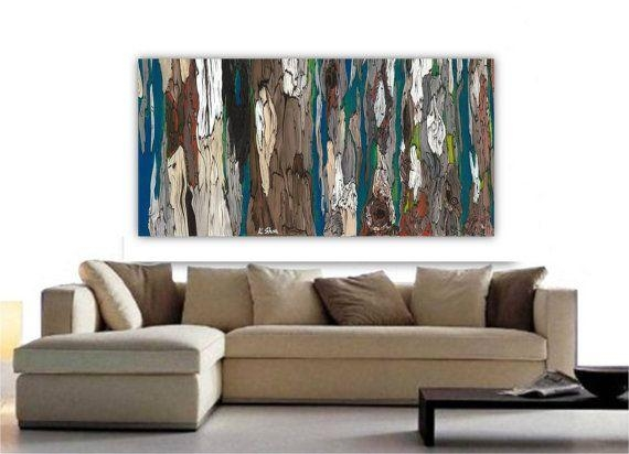 Very Large Wall Art; Extra Large Painting Print; Tree Art In Blue For Very Large Wall Art (Image 14 of 20)
