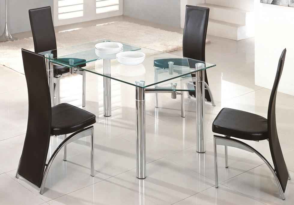 Very Practical Expandable Glass Dining Table Regarding Recent Square Black Glass Dining Tables (Image 20 of 20)