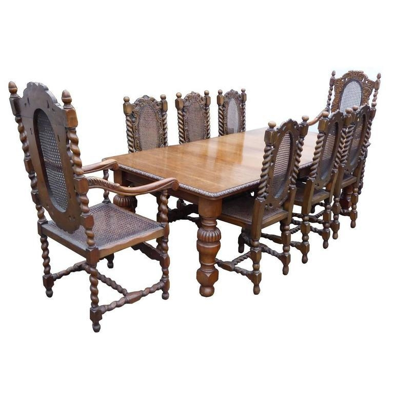 Victorian Solid Oak Dining Table And Eight Chairs At 1Stdibs Intended For Most Popular Solid Oak Dining Tables (View 7 of 20)