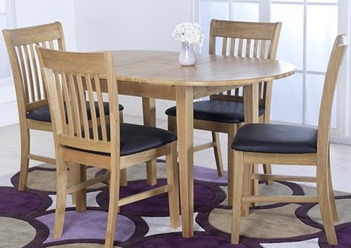 Vida Living Cleo Oak Oval Extending Dining Table And 4 Chairs Set Intended For Oak Extending Dining Tables And 4 Chairs (View 16 of 20)