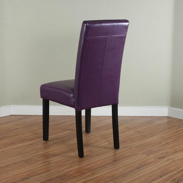 20 Ideas Of Purple Faux Leather Dining Chairs