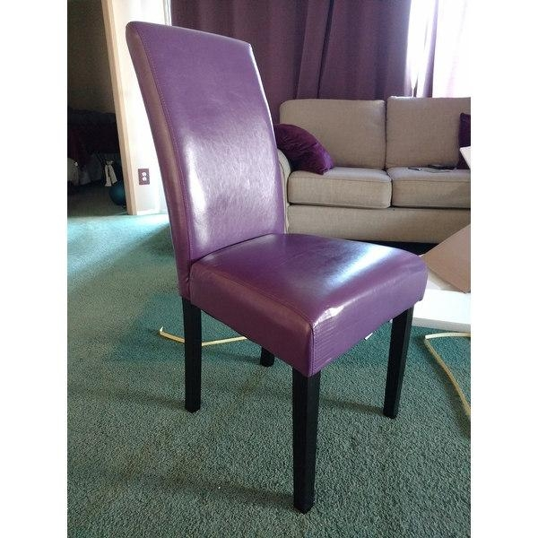 Villa Faux Leather Boysenberry Dining Chairs (Set Of 2) – Free Intended For Newest Purple Faux Leather Dining Chairs (Photo 9 of 20)