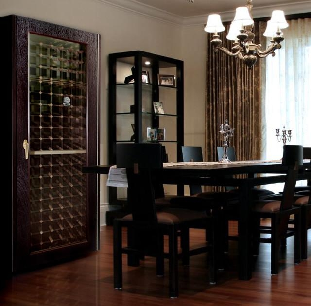 Vinotemp 200Wcg Model Economy Wine Cabinet With Glass Door In Best And Newest Dining Room Cabinets (Image 20 of 20)