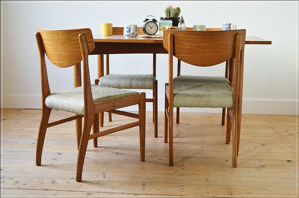 Vintage Dining Chair Chairs Teak Set Of 4Morris Of Glasgow Intended For 2018 Glasgow Dining Sets (Photo 7 of 20)