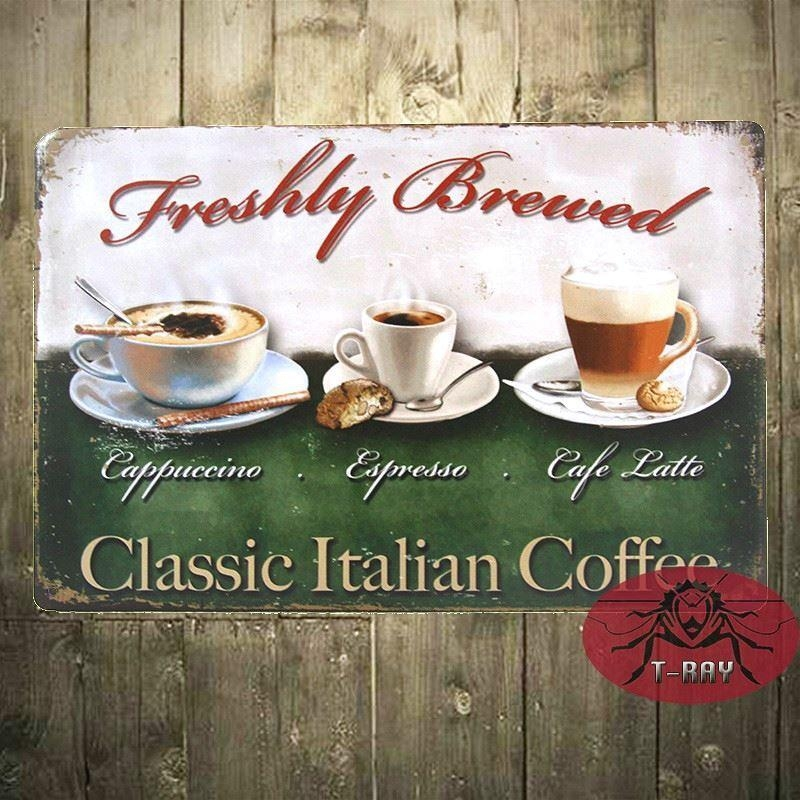Vintage Home Decor Classic Italian Coffee Wall Sticker Wall Art With Italian Coffee Wall Art (Image 19 of 20)