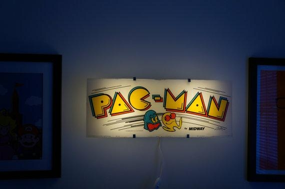 Vintage Pac Man Arcade Marquee Wall Light | Walyou With Regard To Arcade Wall Art (View 14 of 20)