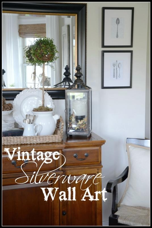 Vintage Silverware Wall Art Diy – Stonegable Regarding Silverware Wall Art (View 8 of 20)
